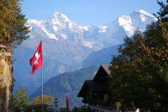 Jungfraujoch (called  'Top of Europe') between the Mönch and the Jungfrau