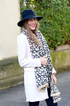 Blush and a leopard scarf | by Fabes Fashion - A Los Angeles based Life and Style Blog #blush #leopard #blushcoat #leopardscarf #asos #fashionblogger