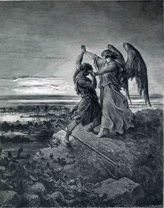 TEXAS..Jacob Wrestling with the Angel - Gustave Dore