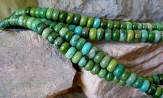 Green Turquoise Rondelle Bead 6mm Natural by jewelrycatsupplies, $38.50