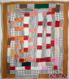 African American strip quilt, by Idabell Bester