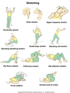 Stretch before walking