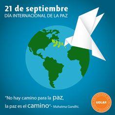 #DíaInternacionalDeLaPaz Nos tomamos un momento para reflexionar sobre esta necesidad mundial.