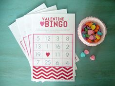 Valentine's bingo from Kristy at Libbie Grove Design. This would be fun for Benjamin's class party.
