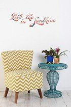 Live In The Sunshine Wall Decal   #UrbanOutfitters
