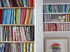 gorgeous fabric storage