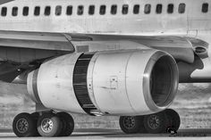 Aircrafts in pieces. Black and white. PSC Collection