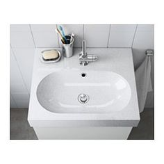 """IKEA - BRÅVIKEN, Sink, 1 bowl, 23 5/8x19 1/4x3 7/8 """", , 10-year Limited Warranty. Read about the terms in the Limited Warranty brochure.The included water trap is easy to connect to the drain, washing machine and dryer because it is flexible.Unique water trap design gives room for a full sized drawer."""