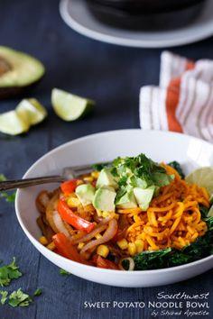 Southwest Sweet Potato Noodle Bowl | sharedappetite.com