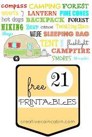 creative cain cabin: 3 Free Summer Printables