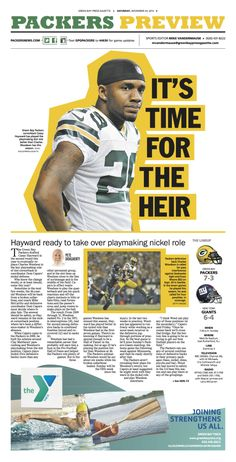 Time for the heir - Packers Preview #magazinelayouts Time for the heir - Packers... - #heir #magazinelayouts #Packers #preview #Time Yearbook Layouts, Yearbook Design, Yearbook Photos, Newspaper Design Layout, Page Layout Design, Magazine Cover Layout, Magazine Layout Design, Editorial Layout, Editorial Design