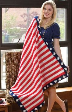 Ships Ahoy Patriotic Throw - I could see this is as a real nice picnic-type blanket