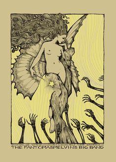POSTER ART (aka how to handprint silkscreen posters) on Behance Illustrations, Illustration Art, Art Hippie, Art Nouveau Poster, Psy Art, Alphonse Mucha, Rock Posters, Concert Posters, Psychedelic Art