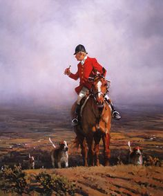 Calling Up His Hounds, Fox Hunting Art Print By Peter Curling Hunting Art, Fox Hunting, Paintings I Love, Dog Paintings, Horse Artwork, Medieval, Equestrian Decor, Most Beautiful Animals, Horse World