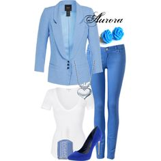 Aurora: Blue by allij28 on Polyvore featuring polyvore, fashion, style, James Perse, Smythe, Forever New, Alex Woo, Essie, Rachel Roy and skinny jeans