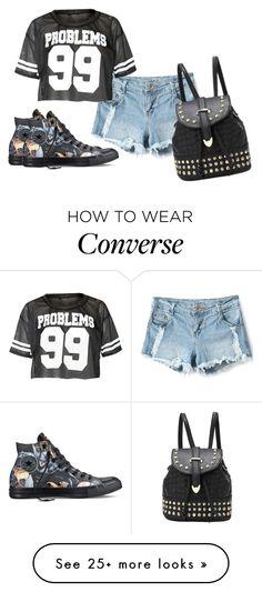 """Untitled #205"" by gludmil98 on Polyvore featuring moda e Converse"