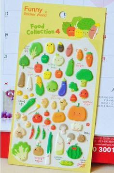 Kawaii Diy Deco Sticker - Food Collection 4 , great for cell phone / photo album / diary and home decoration,