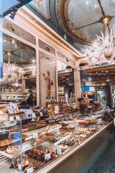 My life dream is to move to Paris. Stohrer: Visiting the Oldest Patisserie in Paris France (and the birthplace of Baba au Rhum) Restaurants In Paris, Paris Hotels, Best Places To Eat, Places To Travel, Travel Destinations, Montorgueil Paris, Paris Torre Eiffel, Tour Eiffel, Small Restaurant Design
