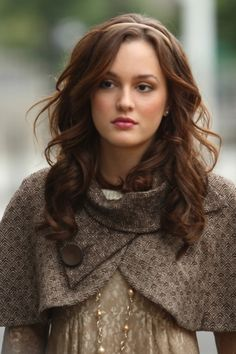 leighton meester...#tv #series #celebrity #famous #actress #hairstyle #curls #hairdo