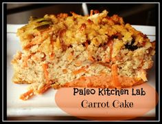 Paleo Carrot Cake with Coconut 'Cream Cheese' Frosting