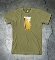 I love beer so much I just want to wear it!! There is nothing better that an ice cold pint! This is a four color print which takes alot more prep time and care. That is why the price is higher than single color prints!  [ T-SHIRT DETAILS ] My designs are printed on Next Level 3600 shirts. - 100% combed ring-spun cotton high-end jersey - 4.3 oz. - 32 singles for extreme softness - Fabric laundered for reduced shrinkage - 1x1 baby rib-knit set-in collar - Tear-away label  [ SIZING ] SMALL…