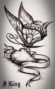 Tatoo a tattoo heart love butterflies deviantart tattoos and body art . tatoo a tattoo . Rose And Butterfly Tattoo, Butterfly Tattoo Meaning, Butterfly Tattoo On Shoulder, Butterfly Drawing, Butterfly Tattoo Designs, Drawings Of Butterflies, Cross Tattoo Designs, Tattoo Design Drawings, Pencil Art Drawings