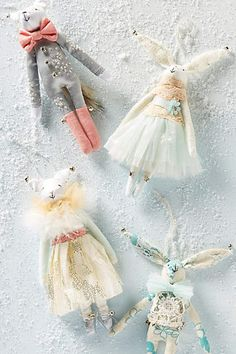 Forest Soiree Ornament - anthropologie.com - the grey one, its the cutest