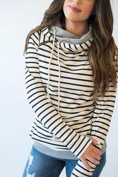 DoubleHooded Sweatshirt via Mindy Mae's Market