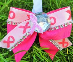 Breast Cancer Awareness Pink Ribbon Bow Key Chain by SideofSass