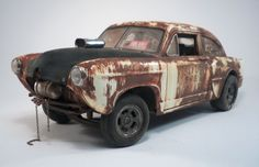 1951 KAISER HENRY J  Weathered Barn Find Drag Car Rat Rod Gasser 1/18 SunStar #SunStar #1951HenryJ