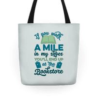 This tote bag is perfect for the book lover in your life (or yourself!). If you can't go a week without visiting the bookstore or the library because you read so fast, that's like a superpower! Don't be afraid to show your love for books and that if someone were in your shoes, they'd be spending a lot of days at the bookstore.
