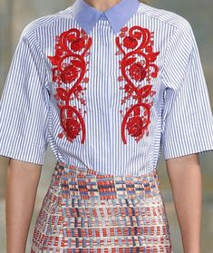 patternprints journal: PRINTS, PATTERNS, TEXTURES, DETAILS FROM NEW YORK CATWALKS (WOMENSWEAR S/S 2016) / Tory BUrch
