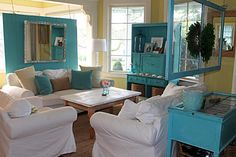The Modern Cottage - love this room and colors