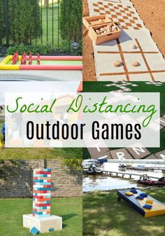 Outdoor Games That Can Be Played From A Distance. These games are great for kids and for adults! Check out these awesome lawn games that are fun, DIY, and great ideas for family fun! #adults #kids #DIY #outdoor #fun #outdoorgames