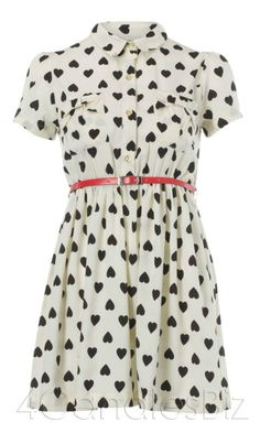 found on ebay originally from Primark-> http://www.ebay.co.uk/itm/LATEST-PRIMARK-CUTE-WHITE-BLACK-HEART-PRINT-RED-BELT-DITSY-SHIRT-DRESS-8-20-/170811456404#ht_1480wt_912
