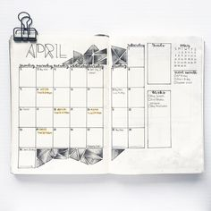 "Gefällt 58 Mal, 2 Kommentare - @bulletby_r auf Instagram: ""Here's my month spread for April ☺"""