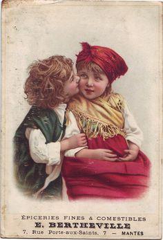 """Mantes. E. Bertheville. 7, Rue Porte-aux-Saints, 7. Delicatessen and Edible. ADVERTISING."""