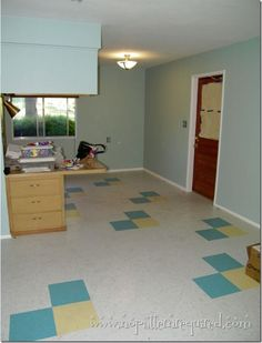 Sara in AZ installs retro-look VCT tile in her mom's condo. Great how to and floor-sealer tips! @No Pattern Required