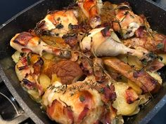 Csirkés-körtés egytálétel Hungarian Recipes, Hungarian Food, Paella, Bacon, Pork, Meat, Ethnic Recipes, Kale Stir Fry, Hungarian Cuisine