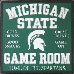 Michigan State Game sign by cwfreitas on Etsy, $50.00