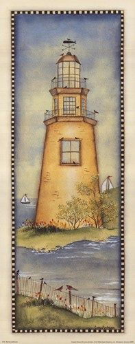 Lynne Andrews - Spring Lighthouse - art prints and posters