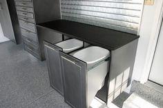 Kitchen/Garage Hidden Pull-out Garbage Bins.