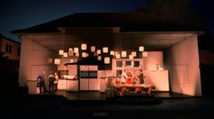 The 'house I grew up in' uses striking projection mapping technology to tell the…