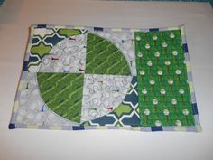 Golf Mug Rug ( for the recipient of the Golf Quilt )