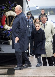 Princess Ingrid Alexandra arrives for her first official royal duty.