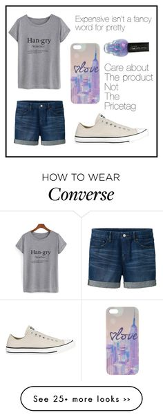 """#125 cheap but pretty"" by xjet1998x on Polyvore featuring moda, Uniqlo y Converse"