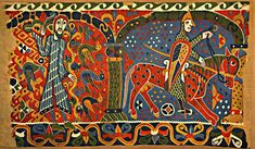 The Norwegian Baldishol Tapestry, which is now in the The Oslo Museum of Applied Art, is believed to originate from the very end of the 12th century.