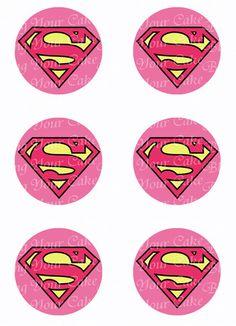 Supergirl Logo Inspired Edible Icing Cupcake or Cookie Decor Toppers Cupcake Icing, Cupcake Cookies, Mini Cupcakes, Cupcake Toppers, Sugar Cookies, Birthday Star, Brownie Bites, Tree Nuts, Superhero Party