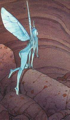 """Moebius - Part of french cover of """"STEL"""" Edena's World - Editions Casterman, Paris 1994"""