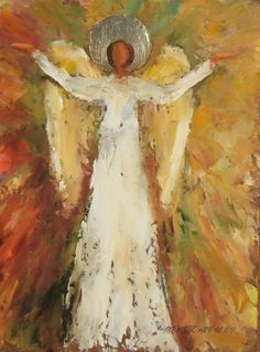 Streater Spencer is a Nashville artist who paints in both oil and acrylic. Angel Images, Angel Pictures, Angel Artwork, Angel Paintings, Crafty Angels, Angel Wings Decor, Angel Drawing, Christian Artwork, I Believe In Angels